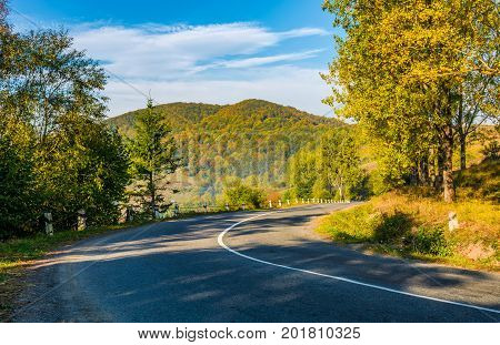 Countryside Road In Mountains