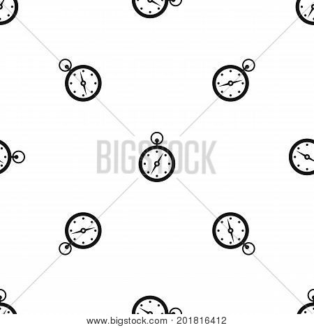 Compass pattern repeat seamless in black color for any design. Vector geometric illustration