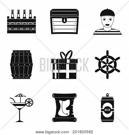 Saloon icons set. Simple set of 9 saloon vector icons for web isolated on white background
