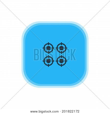 Beautiful Kitchenware Element Also Can Be Used As Furnace Element.  Vector Illustration Of Gas Stove Icon.
