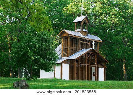 Historic wood chapel . Christian pilgrimage site - Marianska hora, Levoca - Slovakia