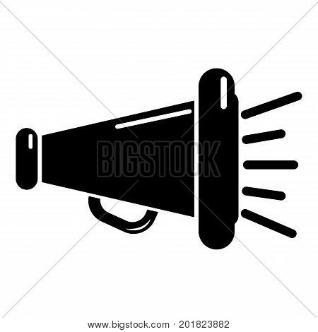 Megaphone icon. Simple illustration of megaphone vector icon for web