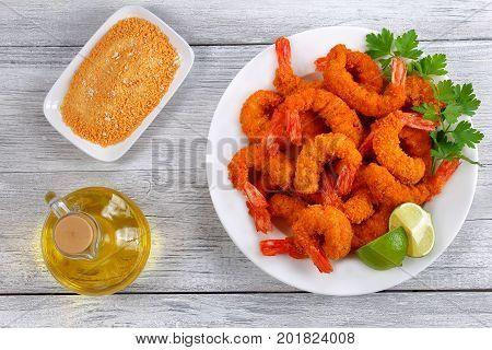 Light And Crispy Crunchy Fried Shrimp