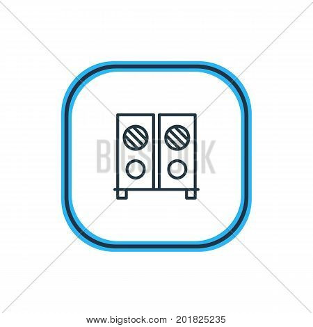 Beautiful Banquet Element Also Can Be Used As Speaker Element.  Vector Illustration Of Loudspeaker Outline.