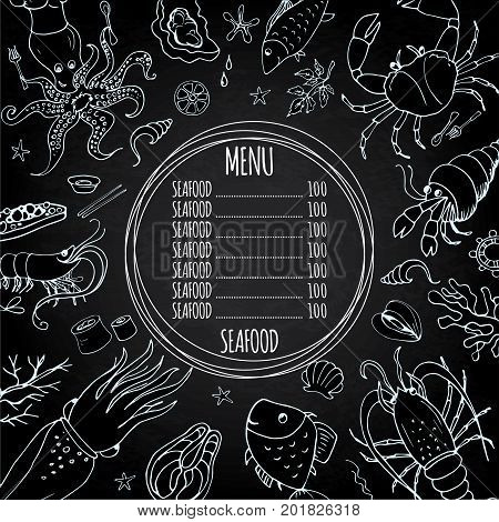 Template Seafood Menu, Great For Restaurants, Menu, Websites