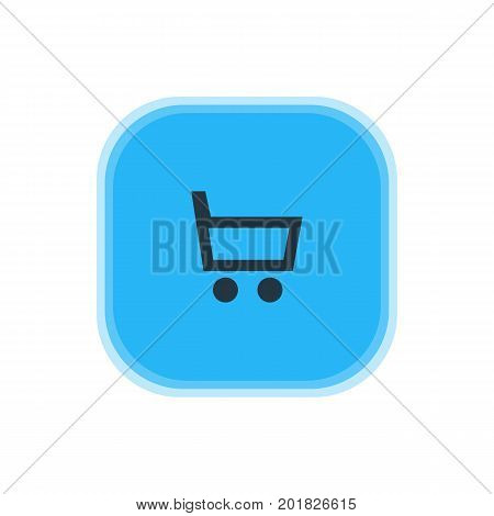 Beautiful User Element Also Can Be Used As Wheelbarrow Element.  Vector Illustration Of Trading Cart Icon.