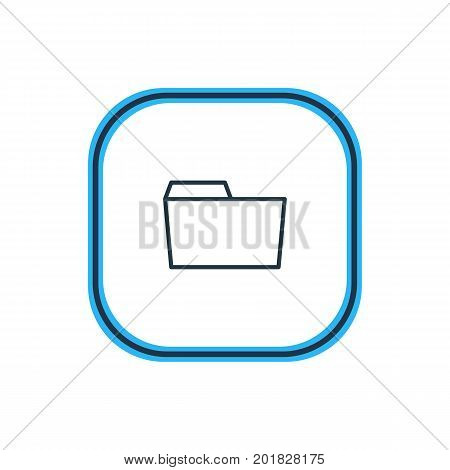 Beautiful Folder Element Also Can Be Used As Document Case  Element.  Vector Illustration Of Folder Outline.