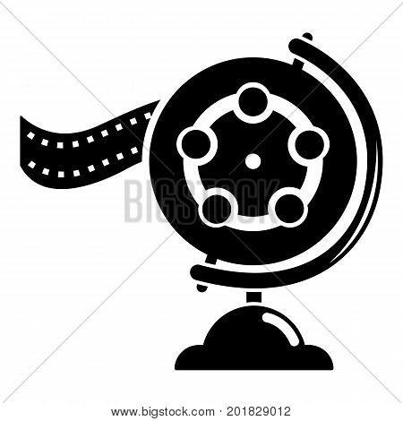 Reel film icon. Simple illustration of reel film vector icon for web