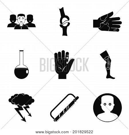 Ambulance icons set. Simple set of 9 ambulance vector icons for web isolated on white background