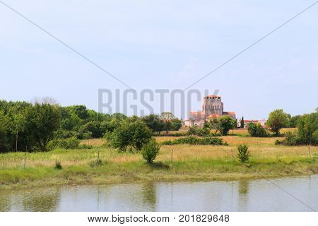Landscape with Village in the French Charente Maritime