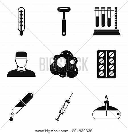 Contusion icons set. Simple set of 9 contusion vector icons for web isolated on white background