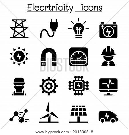 Electricity industrial icons vector illustration graphic design
