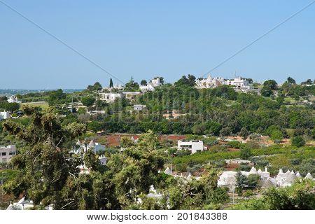 Panoramic view of Locorotondo. Puglia. Southern Italy. poster
