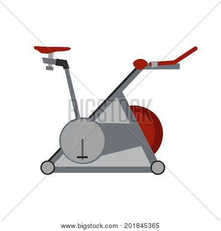Sport vector gym fitness simulator icon exercise healthy equipment health flat illustration