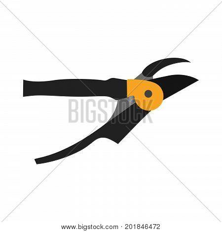 Shears pruning icon garden gardening scissors vector tree tool white equipment silhouette black