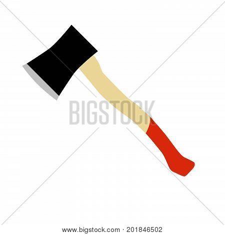 Axe vector hatchet lumberjack icon wood equipment illustration tool weapon vintage black