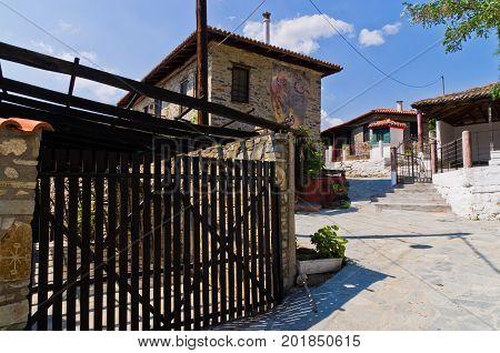 Traditional greek village at central Macedonia, Nikiti, Chalkidiki, Greece