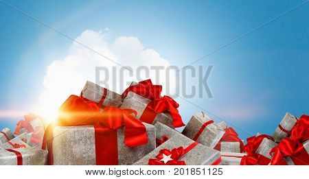 Many Christmas packages
