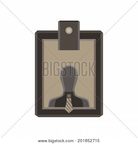 Plastic identity tag vector name identification isolated event holder office