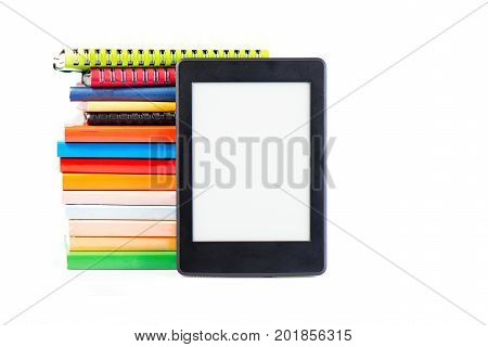 Ebook Together With Classic Paper Books And Agendas Concept Of New Technology