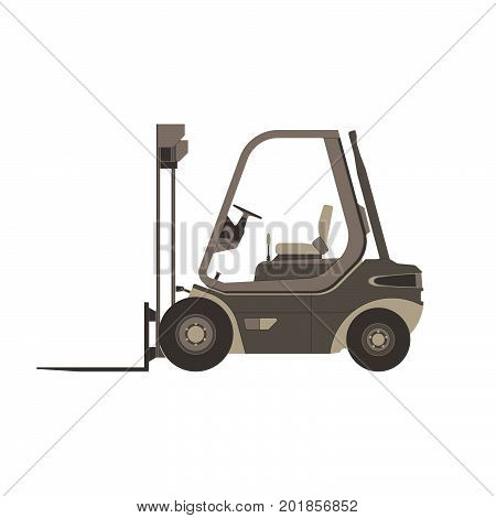 Forklift icon truck vector lift isolated warehouse loader illustration symbol cargo