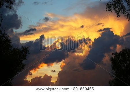 Delightful Clouds At Sunset