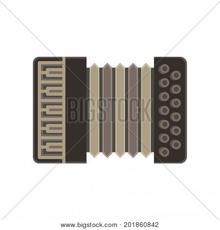 Accordion vector isolated music icon illustration classic musical instrument classical