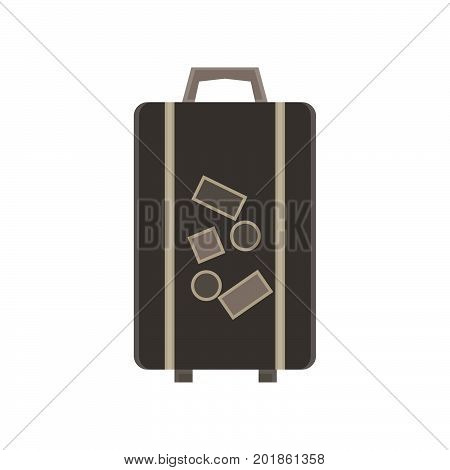 Travel bag vector suitcase illustration luggage trip tourism concept design background vacation object