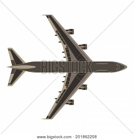 Aircraft airplane vector plane icon isolated color air airliner fly design element jet color shape