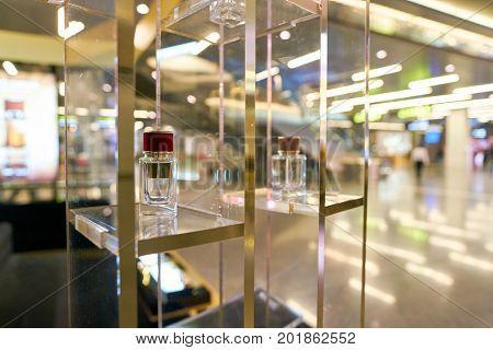 DOHA, QATAR - CIRCA MAY, 2017: Dolce & Gabbana perfumes on display at Hamad International Airport of Doha. Dolce & Gabbana is an Italian luxury fashion house.