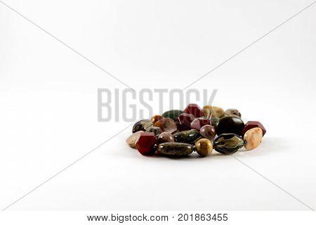 beautiful jewelry bracelet isolated on white background.