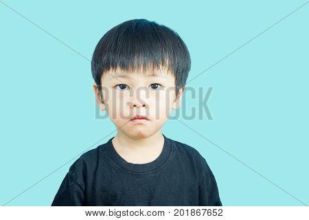 Asian boy got dairy or milk allergy got red skin rash around his month