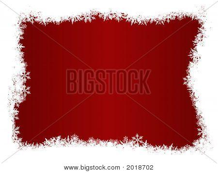 White Snowflake Christmas Border
