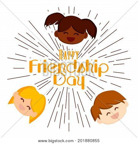 Happy friendship day. Vector background.Best friends forever.