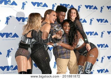 LOS ANGELES - AUG 27:  Khalid, Ally Brooke, Dinah Jane, Normani Kordei, Lauren Jauregui at the MTV Video Music Awards 2017 at The Forum on August 27, 2017 in Inglewood, CA