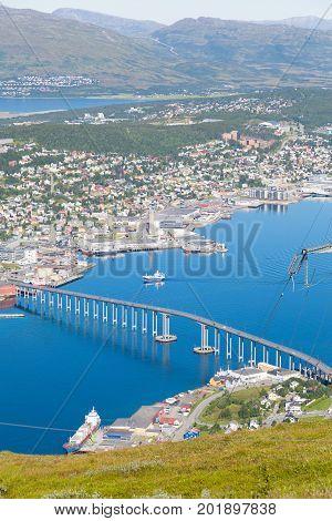 City of Tromso Norway arctic polar circle