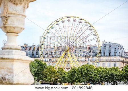 Ferris wheel at the Tuileries park in Paris