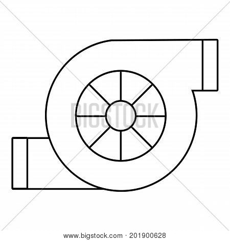 Air filter car icon. Outline illustration of air filter car vector icon for web