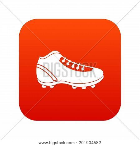 Baseball cleat icon digital red for any design isolated on white vector illustration
