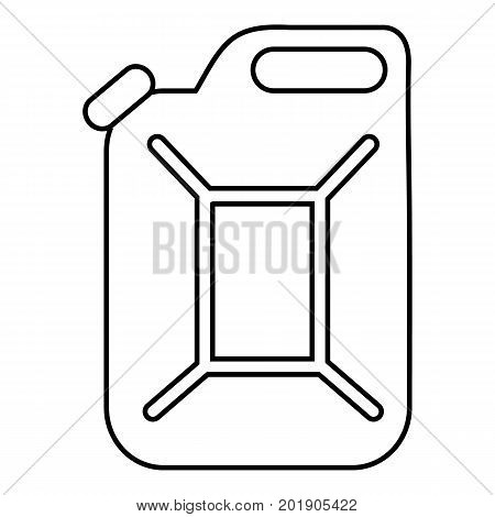 Canister icon. Outline illustration of canister vector icon for web