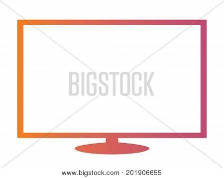 Isolated Orange To Pink Gradient Borderless Television
