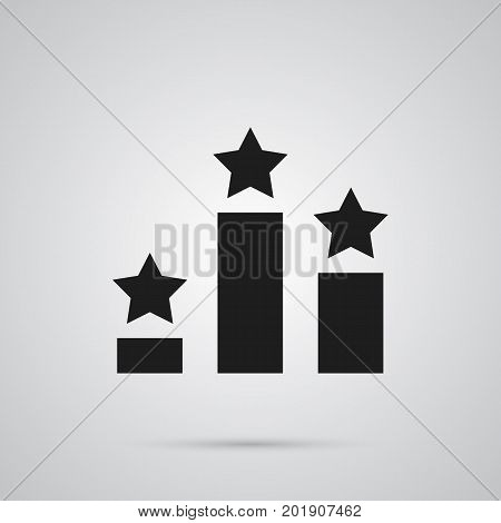 Vector Columns  Element In Trendy Style.  Isolated Ranking Icon Symbol On Clean Background.