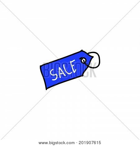 doodle sale label stock vector, sale label icon