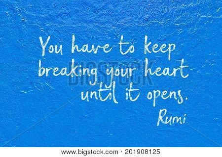Break Heart Rumi