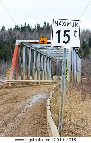 Maximum Weight Restriction On A Country Bridge