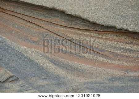 A close-up of sand and silt pattern background.