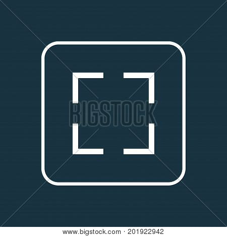 Premium Quality Isolated Full Screen Element In Trendy Style.  Screenshot Outline Symbol.