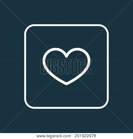 Premium Quality Isolated Heart Element In Trendy Style.  Favorite Outline Symbol.