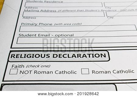 Declaring Ones Faith In Order To Attend A Catholic School