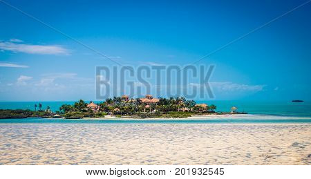 Resort off on Island off the coast of Turks and Caicos poster